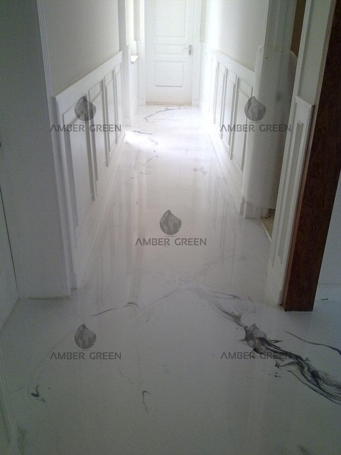 pavimento in resina - corridoio