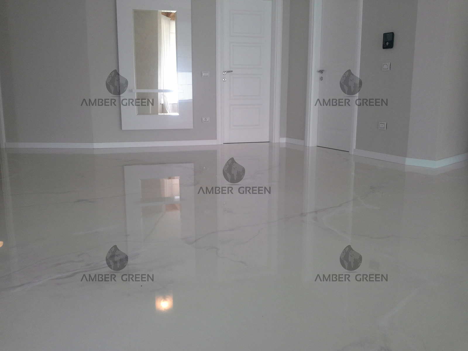 soggiorno - pavimento resina