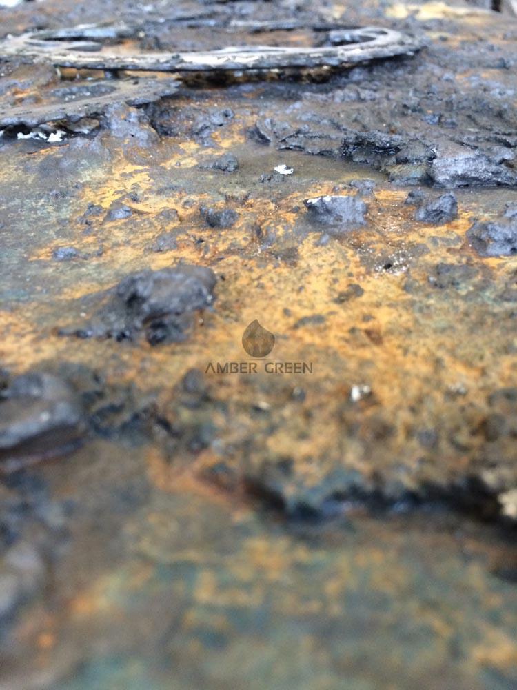 Quadro materico in resina e metallo - Pannelli decorativi in resina ...