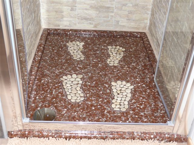 Pavimenti doccia vari e in pietra polydesign ambergreen