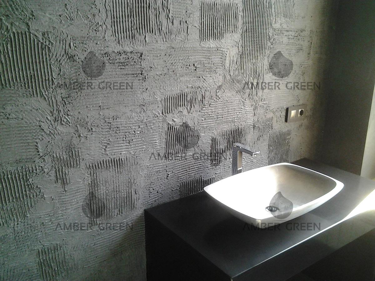 parete bagno in resina